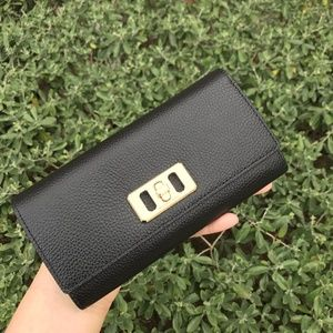 Michael Kors Karson Continental Flap Black Wallet